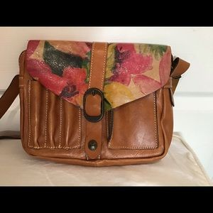 Patricia Nash praga brown floral Crossbody